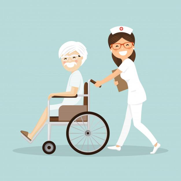 enfermera-empujando-paciente-silla-ruedas_61747-261
